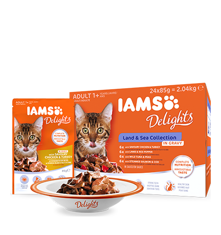 IAMS Delights Land & Sea Collection in Gravy (24 pack)