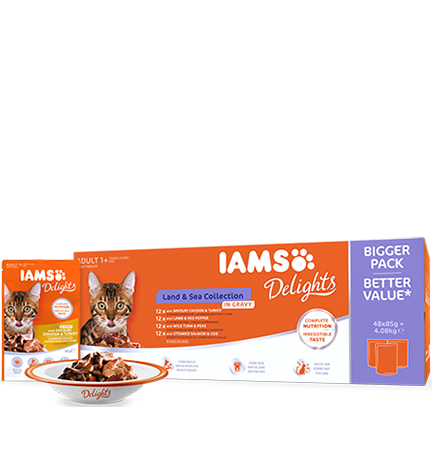 IAMS Delights Land & Sea Collection in Gravy (48 pack)